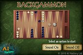 Backgammon Android intro screen