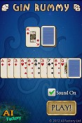 Gin Rummy Android intro screen