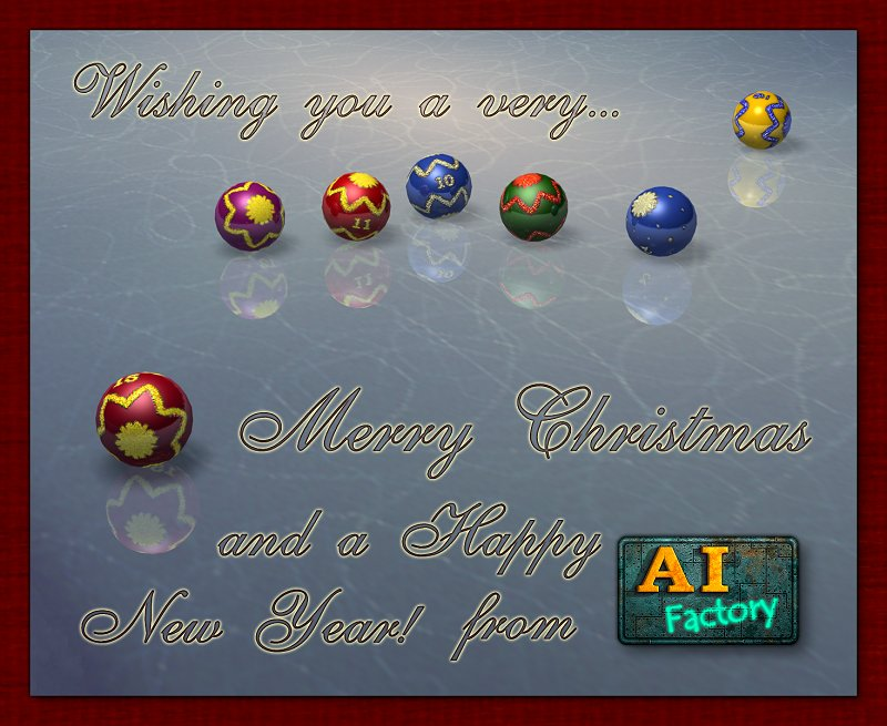 AI Factory's Christmas card 2005
