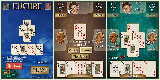 Android Euchre Free screen shots