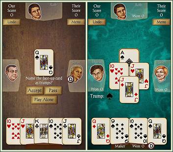 Android Euchre screenshots