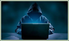 Stock image representing a hacker