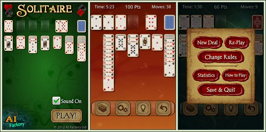 Android Solitaire Free screen shots